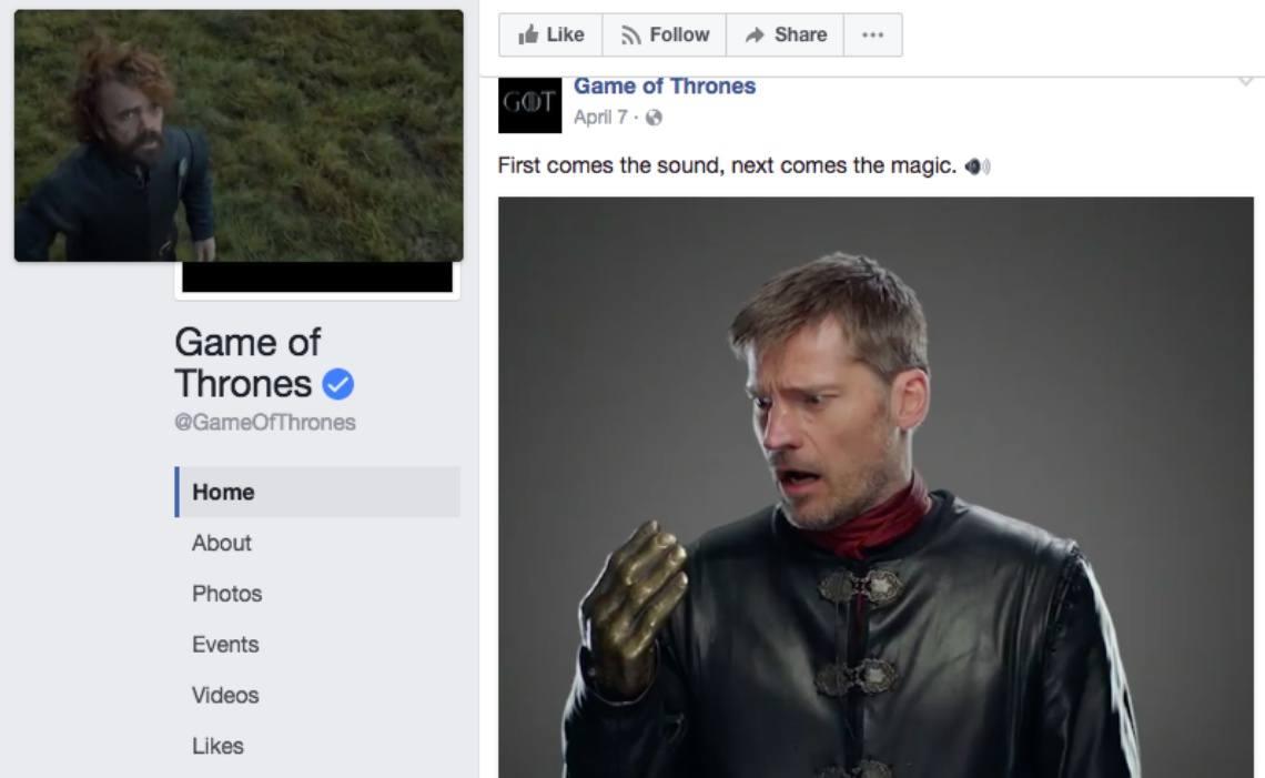 Facebook video ad - GoT