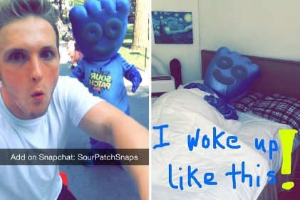 Snapchat Sour Patch story