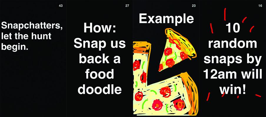 Grubhub Snapchat ad