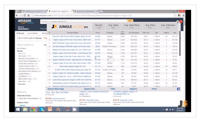 Jungle Scout profit margin