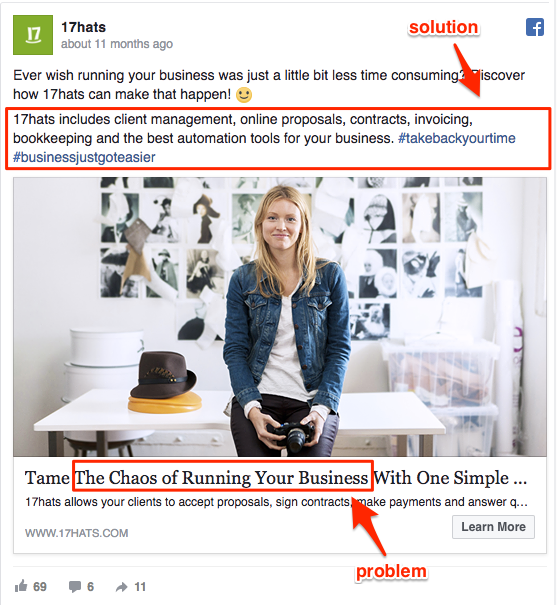 problem solving facebook ad