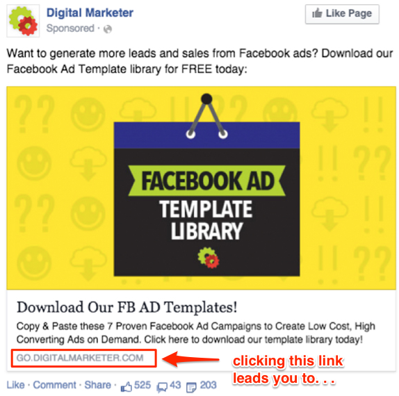 Awesome Facebook Advertising Hacks To Increase ROI Taktical Digital - Facebook ad template library