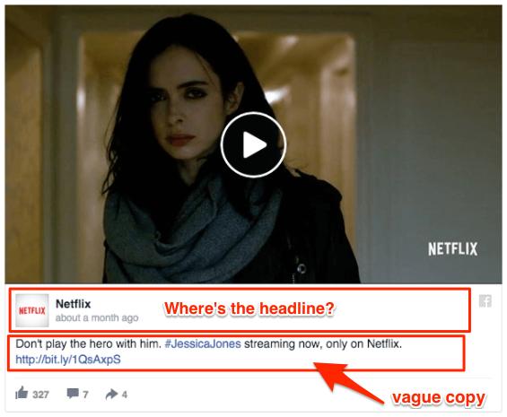 worst Facebook ads - bad headline