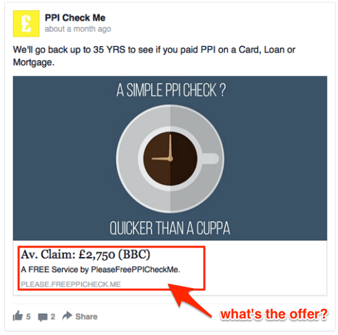 worst Facebook ads - no value