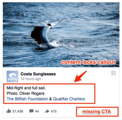 worst Facebook ads - CTA