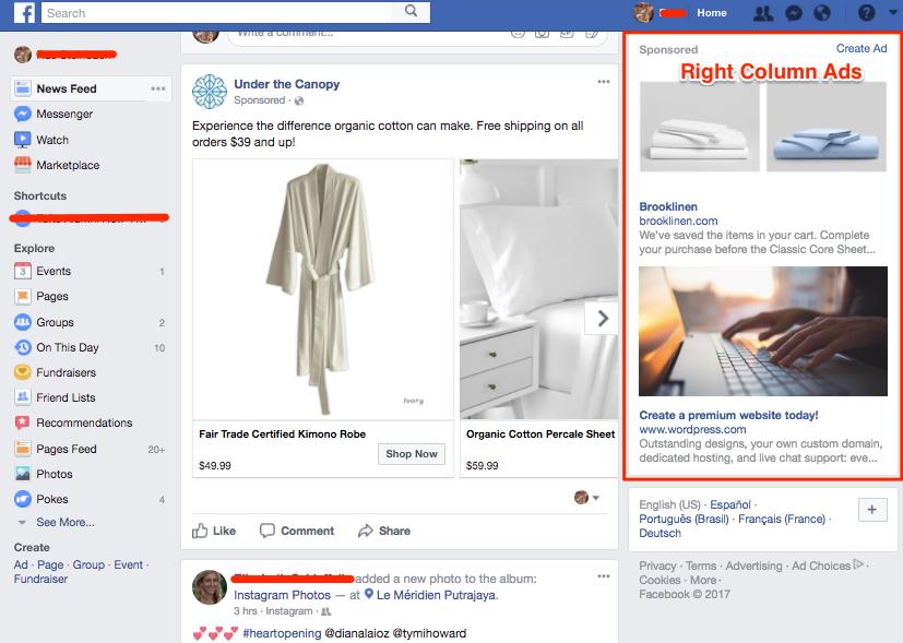 right column ad ex - FB ad