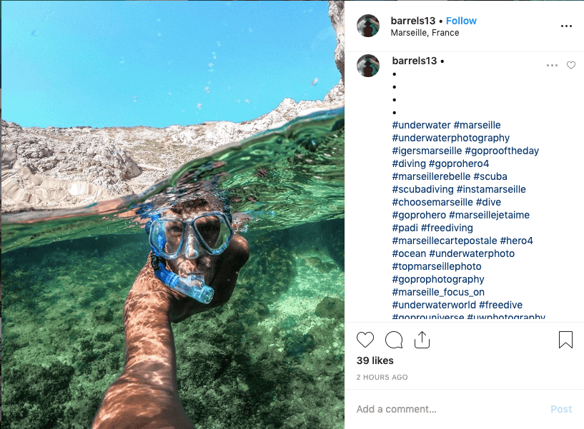 social media conversion - GoPro Instagram