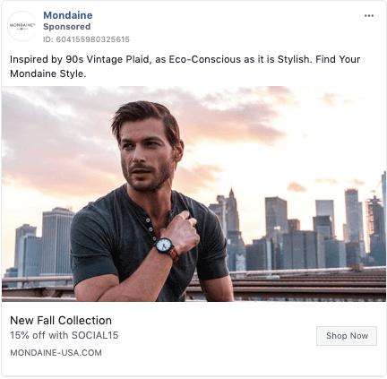 sustainability Facebook trends - Mondaine example